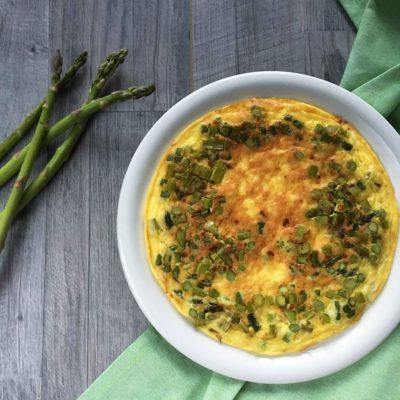 Frittata con asparagi e pecorino