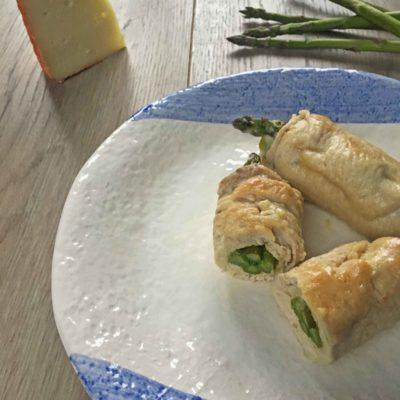 Involtini di tacchino con asparagi e pecorino