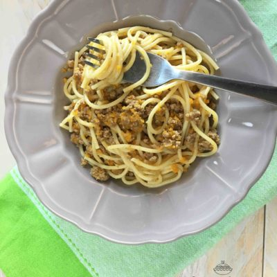 Spaghetti al ragù bianco