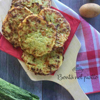 Frittelline di patate e zucchine al forno