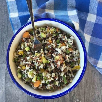 Insalata di 4 risi con verdure saltate